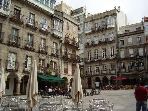 Plaza de la Constitución en el Casco Vello de Vigo